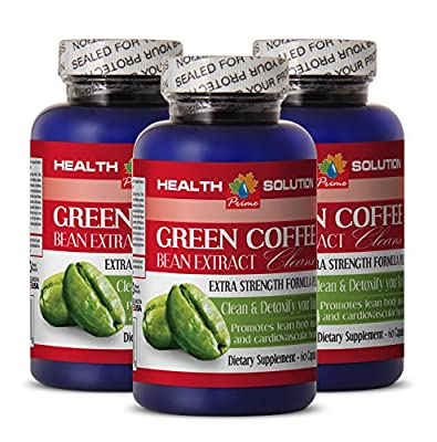 Green Coffee Bean Pills - GREEN COFFEE BEAN EXTRACT CLEANSE - Natural Booster 3 Bottles 180 Capsules