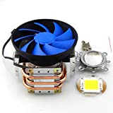 ER CHEN(TM) 3 Copper Pipe Heat Sink With Fan + 44mm Lens +100w Warm White White Led Chip