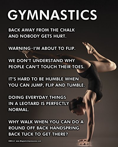 """Posters and Prints by Magnetic Impressions Unframed Gymnast Pose 8"""" x 10"""" Sport Poster Print -"""