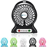 Appliances : Portable Fan, Dizaul mini usb rechargeable fan with 2600mAh Power Bank and Flash light,for Traveling,Fishing,Camping,Hiking,Backpacking,BBQ,Baby Stroller,Picnic,Biking,Boating (Black)