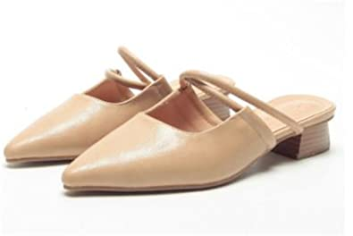 8b77c5281dfd Women s Wide Width Flat Shoes - Comfortable Slip On Round Toe Ballet Flats  (Apricot-