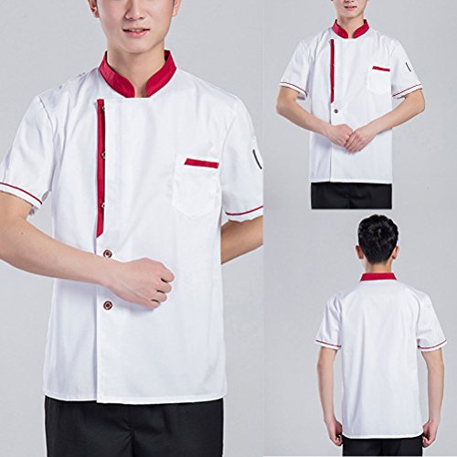 Unisex Zhhlaixing White Long Uniform Colors Clothes Work Classic Sleeve Chef 3 Simplicity tOqrOp