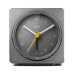 Braun BNC011GYGY Classic Alarm Quartz Alarm Clock