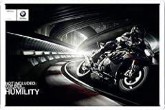 "Bmw S 1000 Rr: Humility 7.8""x11.8"" Tin Poster Metal Plate Wall Decor by Abstract Sign"