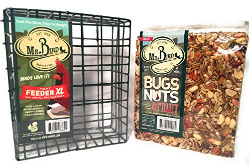 (Mr. Bird Bugs, Nuts, Fruit Large Cake with Neat XL Feeder Bird Seed)
