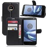 Excelsior Premium Leather Wallet Flip Cover Case For Motorola Moto Z Play (Inner TPU) - Black
