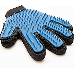 MATE Pet Glove Mitts: Grooming Tool + Furniture Pet Hair Remover Mitt . Pet with Long Hair & Short Hair Gentle and Effective Hair Remover Rubber Head Brush for Dogs, Cats, Horses, Bunnies