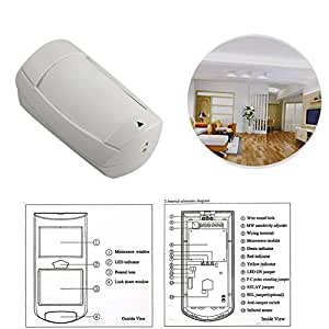 Paradox Security Alarm System Dg75 Pir Detector With Double Lens