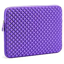 Laptop Sleeve, EveCase 13.3'' ~ 14'' Laptop / Chromebook/ Ultrabook Notebook PC Diamond Foam Splash & Shock Resistant Neoprene Sleeve Case Travel Bag, Purple