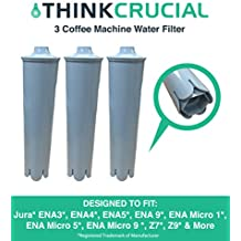 3 Replacements for Jura Clearyl Blue Water Filter, Fits Coffee Machines ENA3, ENA4, ENA5, J6, J9, & J95, Compatible With Part # 67879, by Think Crucial