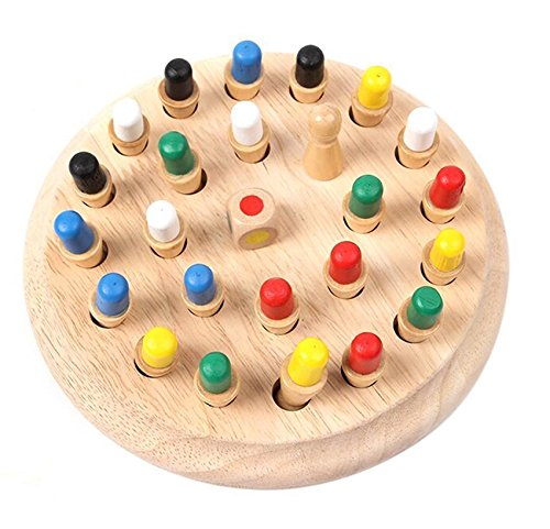 MAZIMARK--Kids Preschool Toy Wooden Memory Developing Compete Chess Learning Educational by MAZIMARK