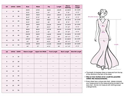Ever Pretty mujer LACEY escote abierto Espalda de Busto de Vestido De Fiesta Con Fruncido 09993 Lanvande