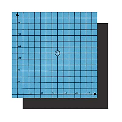 """HWA KUNG 3D Printing Build Surface, 11.8"""" x 11.8"""" (300x300mm) Flexible Magnetic Build Platform Two-Layer Magnetic Hot Bed Sticker for 3D Printer"""