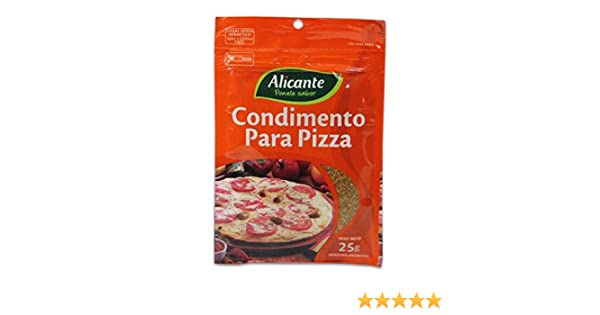 Amazon.com : Alicante Condimento Para Pizza 25g 5 pack : Grocery & Gourmet Food