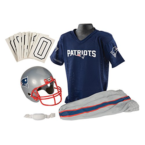 Franklin Sports NFL New England Patriots Youth Licensed Deluxe Uniform Set, Large