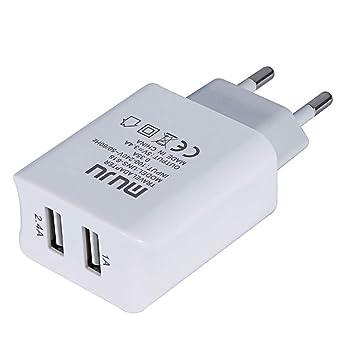 Vimoli USB Cargador Doble Puerto 2A Salida del Recorrido del ...