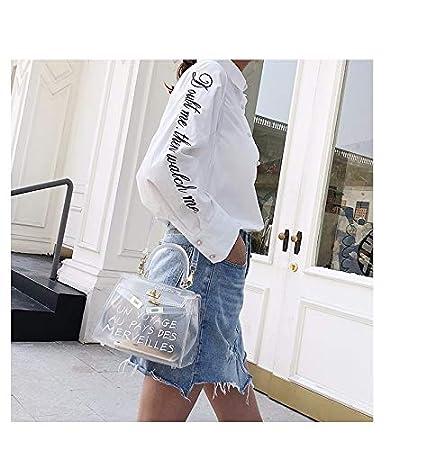 eccdd968469 SAOGA Europe et Amérique Kelly Tendance de la Mode gelée Transparente Sac à bandoulière  en bandoulière Mobile Sac à bandoulière pour Femmes Sauvages