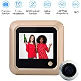 Home Peephole Camera HD, Peephole Viewer, 2.4 inch Color Screen Electric Door Viewer-LCD Security Camera Monitor 160° Wide Angle Lens-No Motion Sensor Doorbell for Home Security (without Battery)