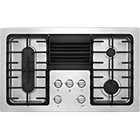 Frigidaire RC36DG60PS 36 Built In Downdraft Gas Cooktop with 4 Sealed Burners Continuous Cast Iron Grates PowerPlus Boil and Pro-Select Controls in Stainless