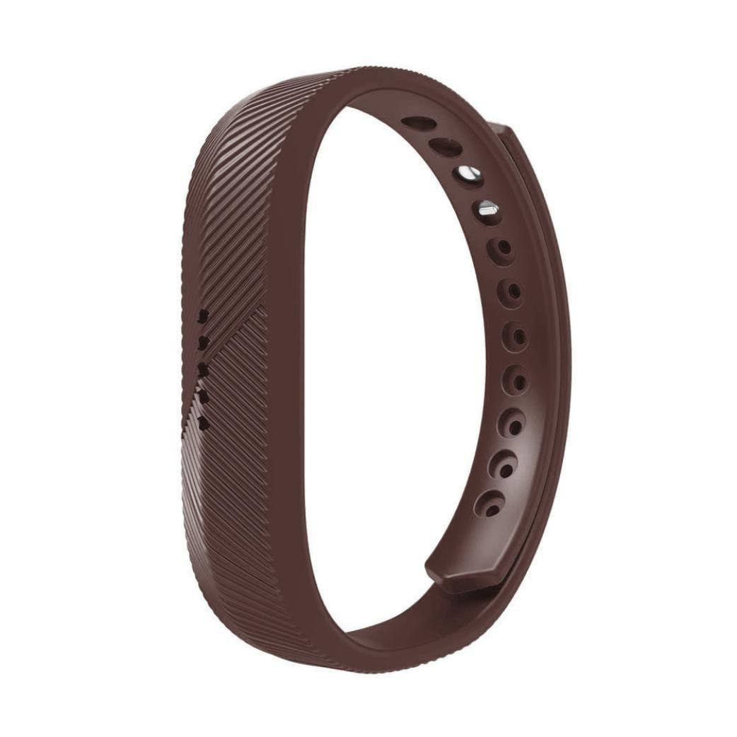 耐久性シリコン時計ストラップ、RTYOu ( TM )ソフトシリコン時計バンド手首ストラップfor Fitbit Flex 2 Smart Watch One size コーヒー コーヒー B077T6F2LQ