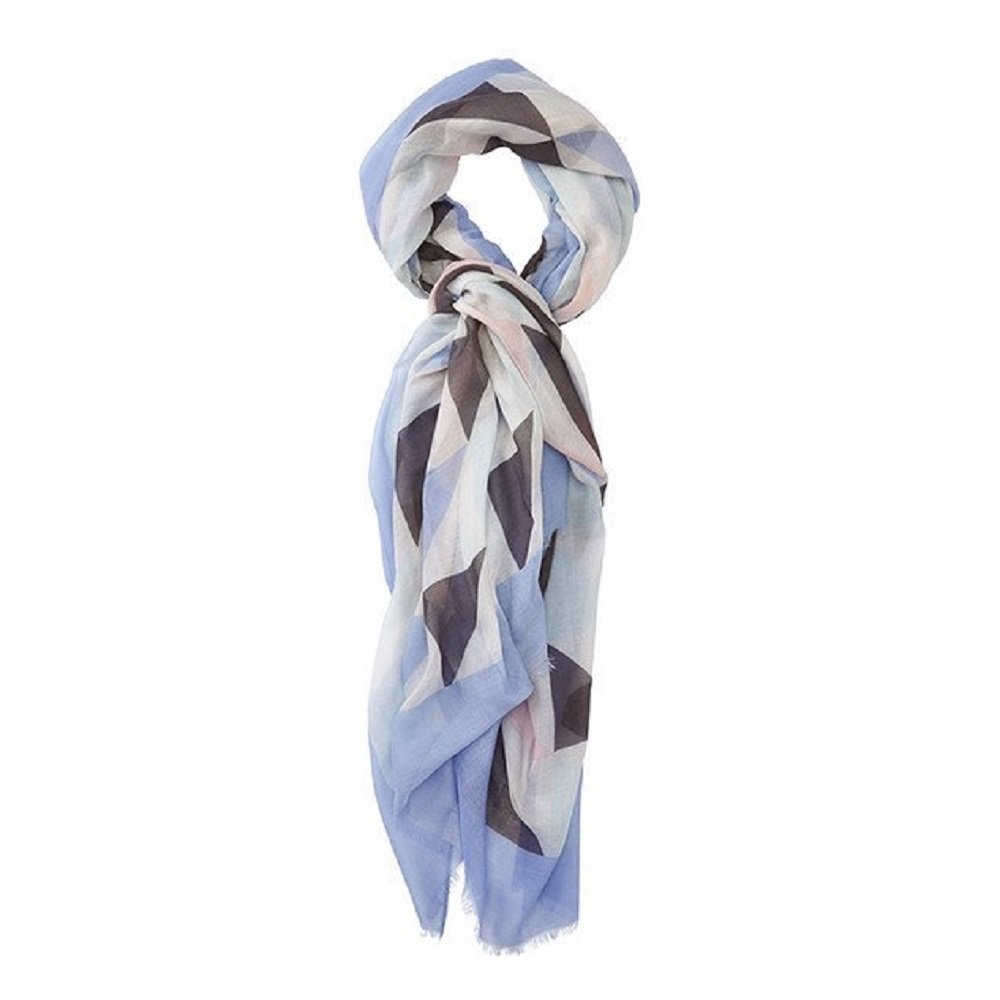 Tickled Pink Lightweight Wrap & Fashionable Travel Scarf or Shawl for Women, Accessorize Your Look, (43x73'') - Geo Tri