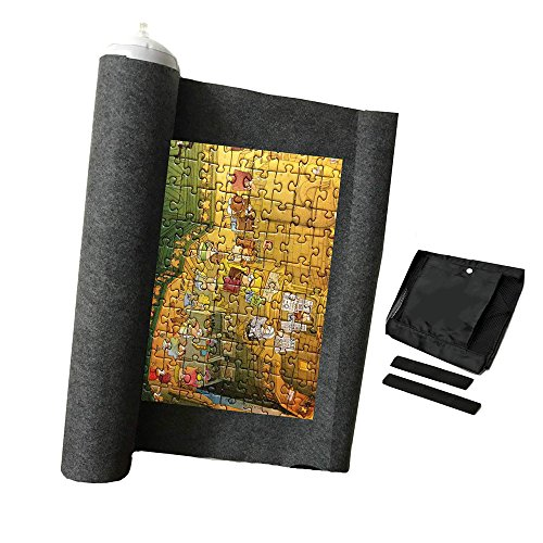 Newbee Jigsaw Puzzle Mat Roll Up Puzzle Saver Holder Jigsaw Storage System for up to 1500 Pieces - Comes with a Storage Bag