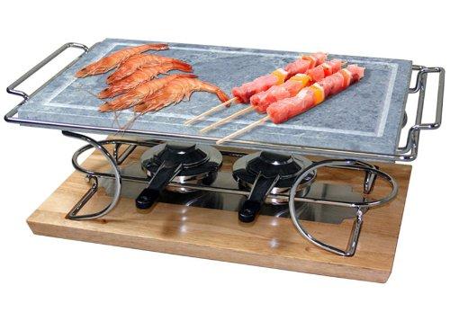 grill da tavolo con pietra ollare eva 39x 25 x 1,8 cm: amazon.it ... - Cucinare Con La Pietra Ollare