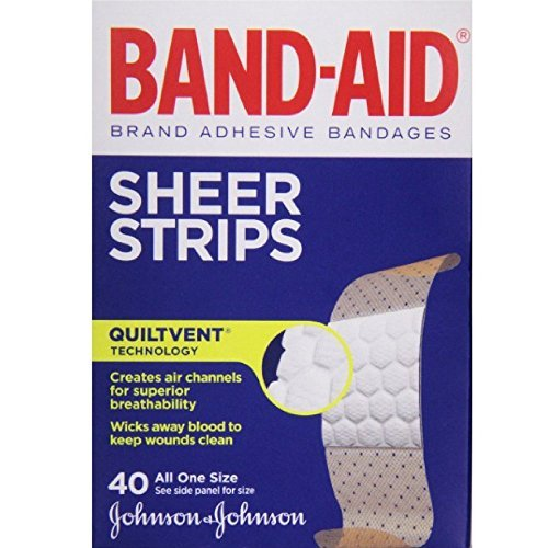 Band-Aid Brand Adhesive Bandages Sheer Strips