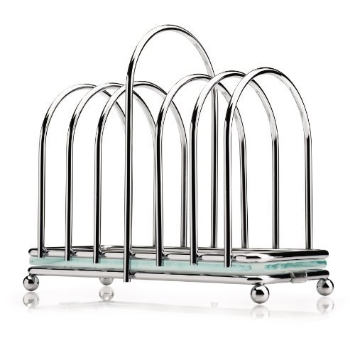 Victorian Toast Rack with Frosted Glass Base by CKS