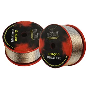Absolute S16500 500-Feet Spool of 16 Gauge Speaker Wire Absolute USA