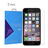 (2 Pack) iPhone 6 / 6s Screen Protector, Laxier(TM) 0.33mm 9H Hardness Curved Edge Crystal Clear Tempered Glass Screen Protector Film For Apple iPhone6 & iPhone6s 4.7 inches