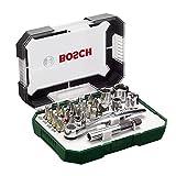 Bosch Screwdriver Bit and Ratchet Set Hand Tool Kit - 26 Pieces 2607017322