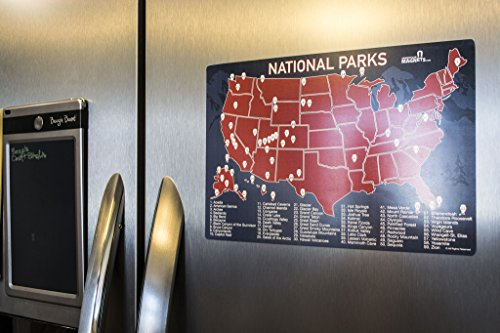 US National Parks Map Fridge Magnet Travel Map Of The United - Us magnetic travel map