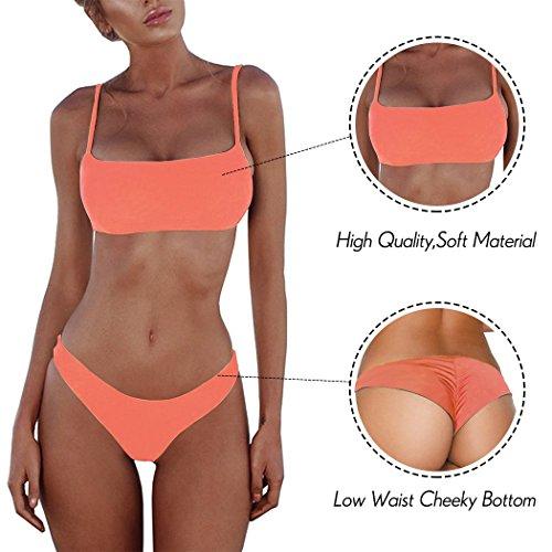 Sexy Intero Donna Summer Arancia Mae da Bagno da Push Bikini Costume Up qq6Iw8