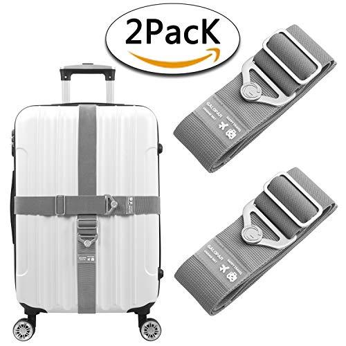 - Elastic Luggage Straps Suitcase Belt Adjustable Luggage Strap Accessories-2 Pack