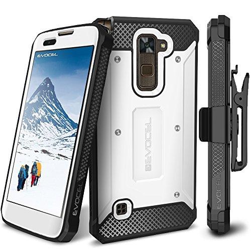 - LG Stylo 2 / LG Stylo 2 Plus/LG Stylo 2 V Case, Evocel [Explorer Series] Premium Full Body Case with Rugged Belt Clip Holster for LG G Stylo 2 / LG Stylo 2 V/LG G Stylo 2 Plus, White