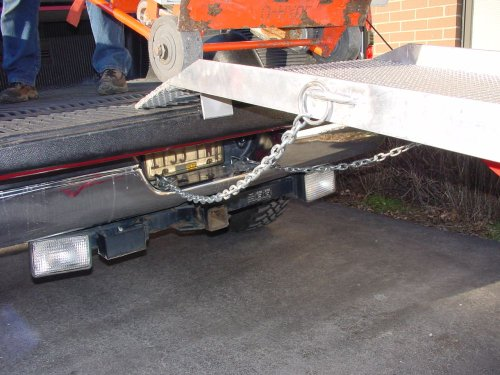 Handi-Ramp-Portable-Delivery-Flatbed-Truck-Ramp-12ft-x-24-wUndercarriage-Mounting-Bracket-750lb-Capacity