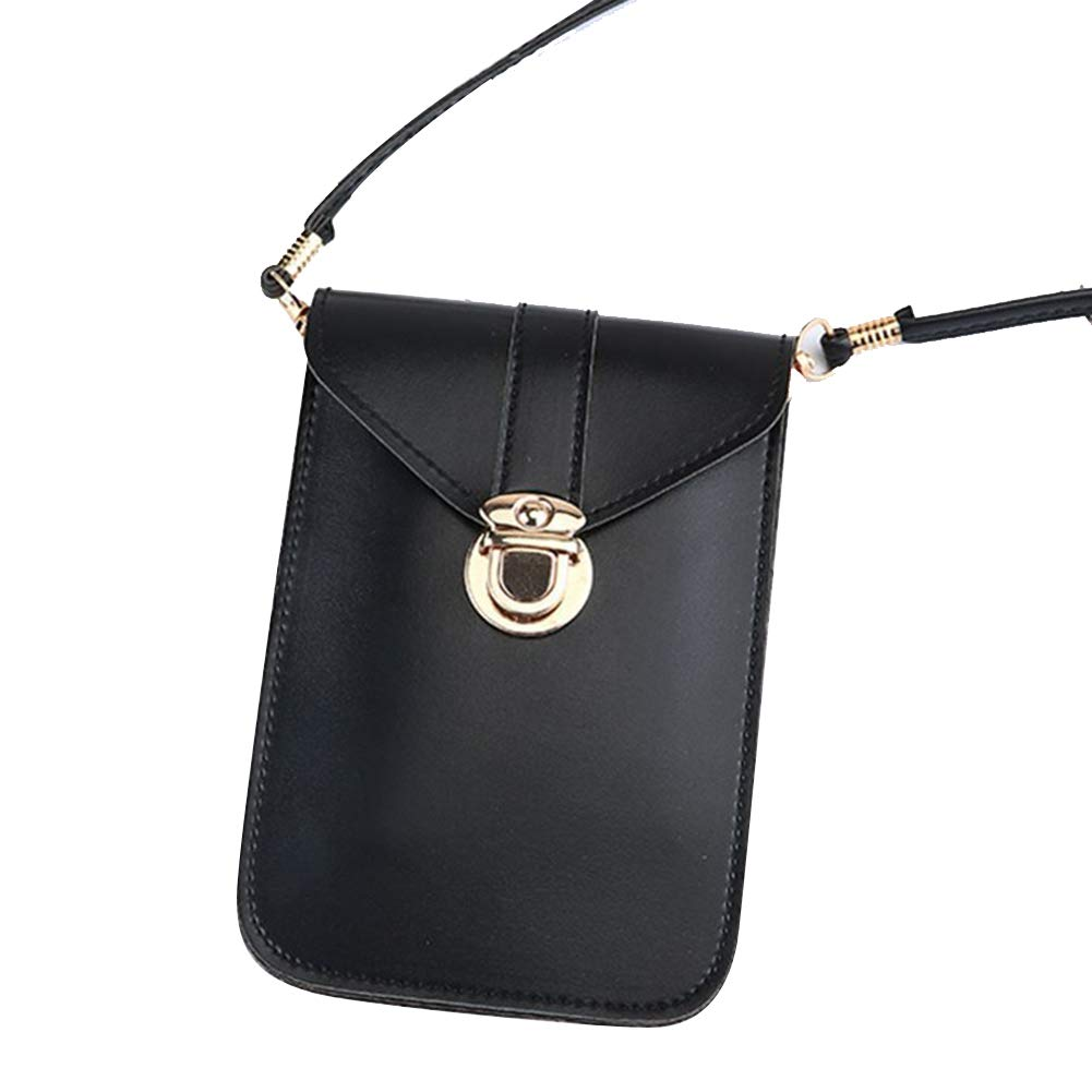 Majome mobiltelefonväska, pekskärm PU-läder väska kvinnor crossbody mobiltelefonväska plånbok Ljusgrå