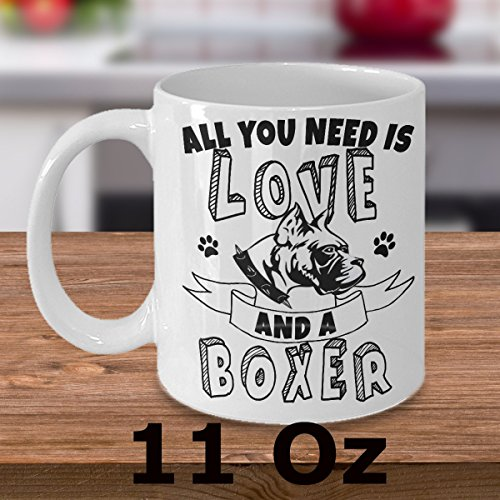 BOXER MUG~ This funny Boxer Coffee Mug is the Perfect Gift for Boxer Lovers and Boxer mums or Boxer Dads! Boxer coffee mug is made from great quality Ceramic! (White) (Arkansas Razorbacks White Ceramic)