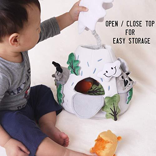 OK!DZO 12'' Mountain & Animal Shape Sorter Plush Developmental Toy Set (16 pcs)- Cognitive & Motor & Social Skills- Fun Bright Colors & Textures for Babies 0-36 Months by OK!DZO (Image #6)