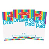 Melissa & Doug Drawing Paper Pad, 3-Pack of Large Drawing Pads, Pages Tear Cleanly, 50 Pages per Pack, Great Gift for Girls and Boys - Best for 3, 4, 5 Year Olds and Up