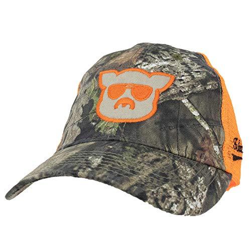 Islanders Pig Face Trucker Hat, Oak Tree/Safety Orange, One ()