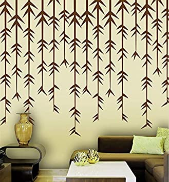Buy Gallerist Diy Wall Painting Stencils Custom Leaf Design Wall Decor Stencil 6 Pieces Stencil Size 3x22 Inches Reusable Online At Low Prices In India Amazon In
