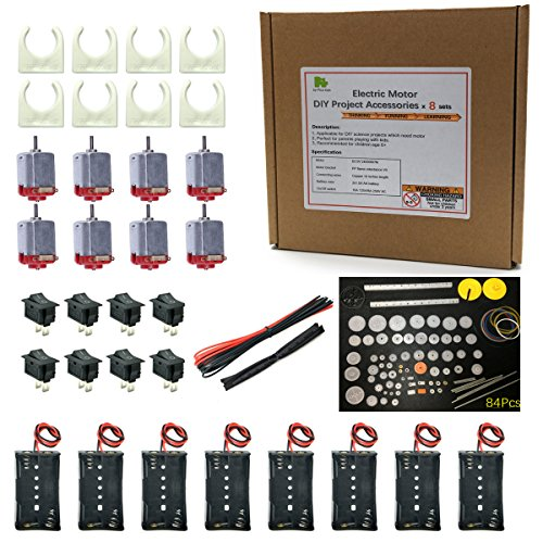 Electric motor DIY project accessories x 8 sets for science projects STEM Kit from Pica Toys