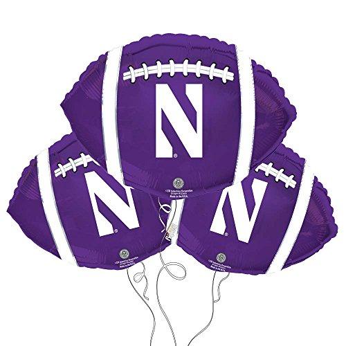 Northwestern University Logo College Football Mylar Balloon 3 Pack