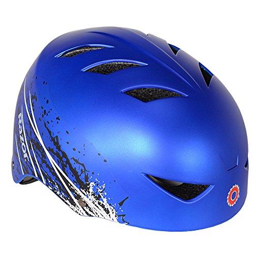 Razor Ambush Child Kids Boys Adjustable Bike Cycling Skateboard Helmet, Blue For Sale