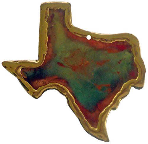 Handmade Copper Texas Christmas Ornament