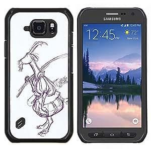 TECHCASE---Cubierta de la caja de protección para la piel dura ** Samsung Galaxy S6 Active G890A ** --Dibujo Arte del cuento de hadas del bosque