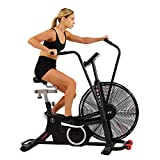 Sunny Health & Fitness Exercise Tornado Fan Air Bike with Bluetooth and Heart Rate Compatibility - SF-B2729 (SF-B2729)