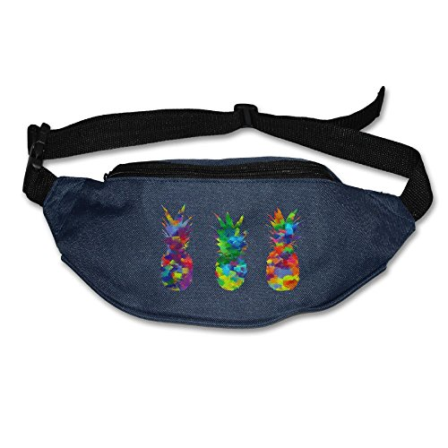 Hahay Fanny Pack Waist Colorful Pineapples Bum Bag Adjustable Belt Bags Running Cycling Waist Bags]()